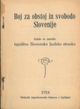 Boj za obstoj in svobodo Slovenije