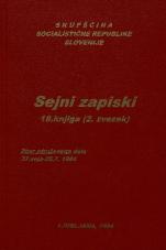 Sejni zapisi Skupščine Socialistične republike Slovenije za 9. sklic (1982-1986), št. zvezka  19<br />Vsebina: 18.knjiga (2.zvezek)<br />Zbor združenega dela,  37. seja (25. julija 1984)