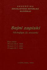 Sejni zapisi Skupščine Socialistične republike Slovenije za 9. sklic (1982-1986), št. zvezka  20<br />Vsebina: 18.knjiga (3.zvezek)<br />Zbor občin,  35. seja (20. junija 1984)<br />Zbor občin,  36. seja (11. julija 1984)<br />Zbor občin,  37. seja (25. julija 1984)