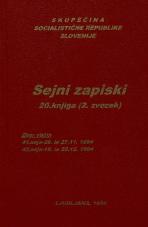 Sejni zapisi Skupščine Socialistične republike Slovenije za 9. sklic (1982-1986), št. zvezka  27<br />Vsebina: 20.knjiga (2.zvezek)<br />Zbor občin,  41. seja (26. novembra 1984)<br />Zbor občin - nadaljevanje seje,  41. seja (27. novembra 1984)<br />Zbor občin,  42. seja (19. decembra 1984)<br />Zbor občin - nadaljevanje seje,  42. seja (20. decembra 1984)