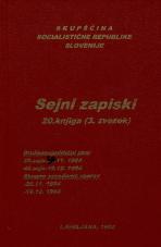 Sejni zapisi Skupščine Socialistične republike Slovenije za 9. sklic (1982-1986), št. zvezka  28<br />Vsebina: 20.knjiga (3.zvezek)<br />Družbenopolitični zbor,  39. seja (26. novembra 1984)<br />Družbenopolitični zbor,  40. seja (19. decembra 1984)<br />Skupno zasedanje,  (26. novembra 1984)<br />Skupno zasedanje,  (19. decembra 1984)