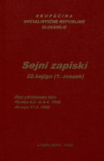 Sejni zapisi Skupščine Socialistične republike Slovenije za 9. sklic (1982-1986), št. zvezka  34<br />Vsebina: 22.knjiga (1.zvezek)<br />Zbor združenega dela,  45. seja (6. marca 1985)<br />Zbor združenega dela - nadaljevanje seje,  45. seja (5. aprila 1985)<br />Zbor združenega dela,  46. seja (17. aprila 1985)