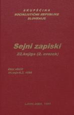 Sejni zapisi Skupščine Socialistične republike Slovenije za 9. sklic (1982-1986), št. zvezka  35<br />Vsebina: 22.knjiga (2.zvezek)<br />Zbor občin,  45. seja (6. marca 1985)