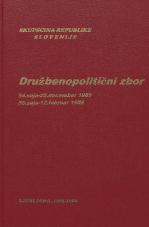 Sejni zapisi Skupščine Socialistične republike Slovenije za 9. sklic (1982-1986), št. zvezka  53<br />Družbenopolitični zbor,  54. seja (25. december 1985)<br />Družbenopolitični zbor,  55. seja (12. februar 1986)