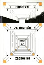 Prispevki za novejšo zgodovino, 1992, št. 1-2