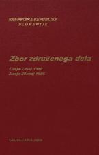 Sejni zapisi Skupščine Socialistične republike Slovenije za 10. sklic (1986-1990), št. zvezka   1<br />Zbor združenega dela,  1. seja (7. maj 1986)<br />Zbor združenega dela,  2. seja (28. maj 1986)