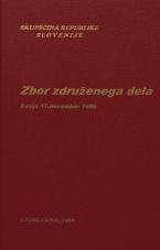 Sejni zapisi Skupščine Socialistične republike Slovenije za 10. sklic (1986-1990), št. zvezka   8<br />Zbor združenega dela,  9. seja (17. december 1986)