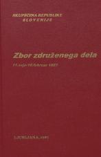 Sejni zapisi Skupščine Socialistične republike Slovenije za 10. sklic (1986-1990), št. zvezka  10<br />Zbor združenega dela,  11. seja (18. februar 1987)
