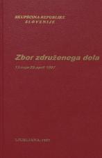 Sejni zapisi Skupščine Socialistične republike Slovenije za 10. sklic (1986-1990), št. zvezka  12<br />Zbor združenega dela,  13. seja (22. april 1987)