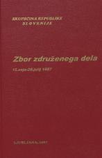 Sejni zapisi Skupščine Socialistične republike Slovenije za 10. sklic (1986-1990), št. zvezka  14<br />Zbor združenega dela,  16. seja (20. julij 1987)