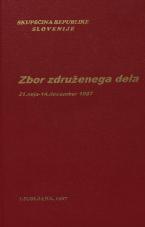 Sejni zapisi Skupščine Socialistične republike Slovenije za 10. sklic (1986-1990), št. zvezka  18<br />Zbor združenega dela,  21. seja (14. december 1987)