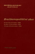 Sejni zapisi Skupščine Socialistične republike Slovenije za 10. sklic (1986-1990), št. zvezka  95<br />Družbenopolitični zbor,  8. seja (25. november 1986)<br />Družbenopolitični zbor,  9. seja (17. december 1986)<br />Družbenopolitični zbor,  10. seja (24. december 1986)