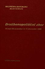 Sejni zapisi Skupščine Socialistične republike Slovenije za 10. sklic (1986-1990), št. zvezka 119<br />Družbenopolitični zbor,  44. seja (22. november 1989)<br />Družbenopolitični zbor nadaljevanje seje,  44. seja (11. december 1989)