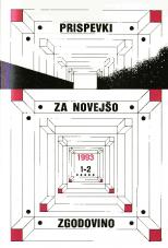 Prispevki za novejšo zgodovino, 1993, št. 1-2