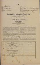 Popis prebivalstva 31. 12. 1869<br />Ljubljana<br />Mesto 13<br />Population census 31 December 1869
