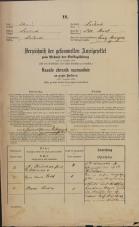 Popis prebivalstva 31. 12. 1869<br />Ljubljana<br />Mesto 14<br />Population census 31 December 1869