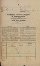 Popis prebivalstva 31. 12. 1869<br />Ljubljana<br />Mesto 18<br />Population census 31 December 1869