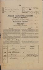 Popis prebivalstva 31. 12. 1869<br />Ljubljana<br />Mesto 23<br />Population census 31 December 1869