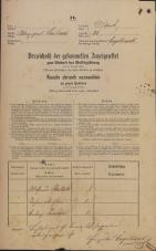 Popis prebivalstva 31. 12. 1869<br />Ljubljana<br />Mesto 24<br />Population census 31 December 1869