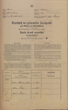 Popis prebivalstva 31. 12. 1869<br />Ljubljana<br />Mesto 104<br />Population census 31 December 1869
