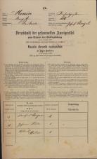 Popis prebivalstva 31. 12. 1869<br />Ljubljana<br />Mesto 110<br />Population census 31 December 1869