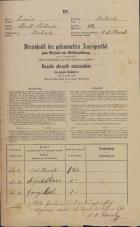 Popis prebivalstva 31. 12. 1869<br />Ljubljana<br />Mesto 94<br />Population census 31 December 1869