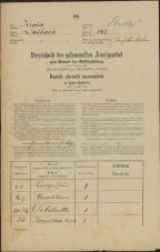 Popis prebivalstva 31. 12. 1869<br />Ljubljana<br />Mesto 142<br />Population census 31 December 1869