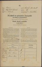 Popis prebivalstva 31. 12. 1869<br />Ljubljana<br />Mesto 157<br />Population census 31 December 1869