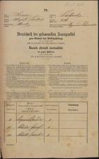 Popis prebivalstva 31. 12. 1869<br />Ljubljana<br />Mesto 236<br />Population census 31 December 1869
