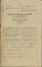 Popis prebivalstva 31. 12. 1869<br />Ljubljana<br />Gradišče 12<br />Population census 31 December 1869