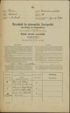 Popis prebivalstva 31. 12. 1869<br />Ljubljana<br />Gradišče 14<br />Population census 31 December 1869
