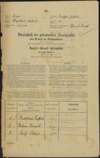 Popis prebivalstva 31. 12. 1869<br />Ljubljana<br />Gradišče 15<br />Population census 31 December 1869
