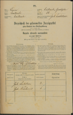 Popis prebivalstva 31. 12. 1869<br />Ljubljana<br />Gradišče 16<br />Population census 31 December 1869