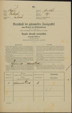 Popis prebivalstva 31. 12. 1869<br />Ljubljana<br />Gradišče 19<br />Population census 31 December 1869