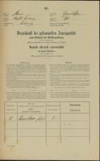 Popis prebivalstva 31. 12. 1869<br />Ljubljana<br />Gradišče 20<br />Population census 31 December 1869
