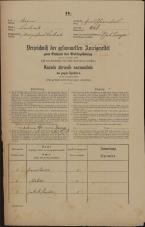 Popis prebivalstva 31. 12. 1869<br />Ljubljana<br />Gradišče 26<br />Population census 31 December 1869