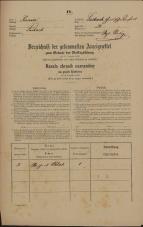 Popis prebivalstva 31. 12. 1869<br />Ljubljana<br />Gradišče 28<br />Population census 31 December 1869