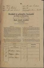 Popis prebivalstva 31. 12. 1869<br />Ljubljana<br />Gradišče 37<br />Population census 31 December 1869