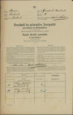 Popis prebivalstva 31. 12. 1869<br />Ljubljana<br />Gradišče 4<br />Population census 31 December 1869
