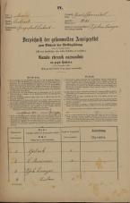 Popis prebivalstva 31. 12. 1869<br />Ljubljana<br />Gradišče 41<br />Population census 31 December 1869