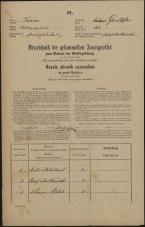 Popis prebivalstva 31. 12. 1869<br />Ljubljana<br />Gradišče 42<br />Population census 31 December 1869