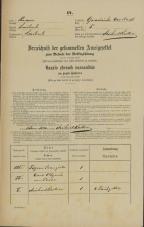 Popis prebivalstva 31. 12. 1869<br />Ljubljana<br />Gradišče 5<br />Population census 31 December 1869