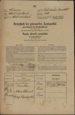 Popis prebivalstva 31. 12. 1869<br />Ljubljana<br />Gradišče 50<br />Population census 31 December 1869