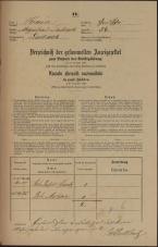 Popis prebivalstva 31. 12. 1869<br />Ljubljana<br />Gradišče 54<br />Population census 31 December 1869