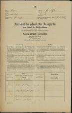 Popis prebivalstva 31. 12. 1869<br />Ljubljana<br />Gradišče 6<br />Population census 31 December 1869