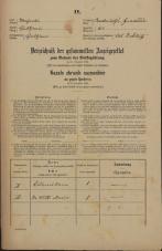 Popis prebivalstva 31. 12. 1869<br />Ljubljana<br />Gradišče 62<br />Population census 31 December 1869