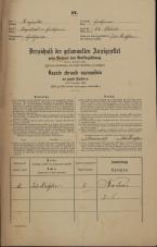 Popis prebivalstva 31. 12. 1869<br />Ljubljana<br />Gradišče 63<br />Population census 31 December 1869