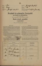 Popis prebivalstva 31. 12. 1869<br />Ljubljana<br />Gradišče 65<br />Population census 31 December 1869