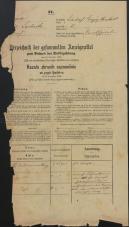 Popis prebivalstva 31. 12. 1869<br />Ljubljana<br />Kapucinsko predmestje 1<br />Population census 31 December 1869