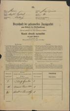 Popis prebivalstva 31. 12. 1869<br />Ljubljana<br />Kapucinsko predmestje 21<br />Population census 31 December 1869